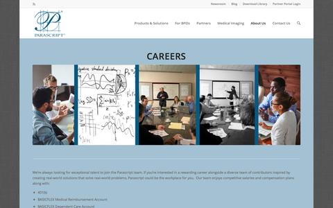 Screenshot of Jobs Page parascript.com - Careers | Document & Handwriting Recognition | Parascript - captured March 12, 2017