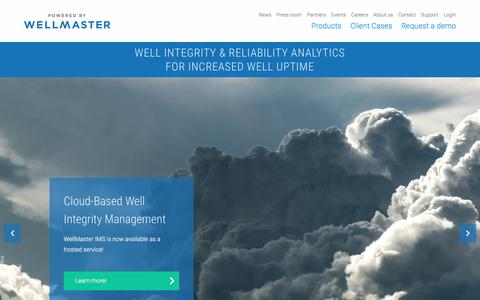 Screenshot of Home Page exprosoft.com - WellMaster | Increased Well Uptime - captured July 23, 2018