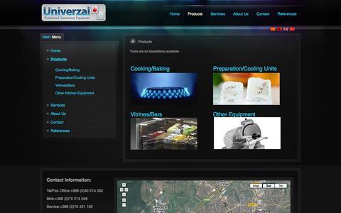 Screenshot of Products Page univerzal.com.mk - Univerzal Er Er - captured Oct. 26, 2014