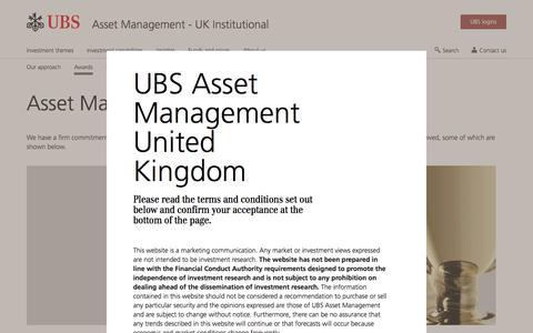 Screenshot of Team Page ubs.com - Asset Management Awards | UBS United Kingdom - captured Nov. 14, 2019