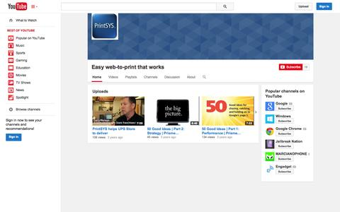 Screenshot of YouTube Page youtube.com - Easy web-to-print that works  - YouTube - captured Oct. 26, 2014