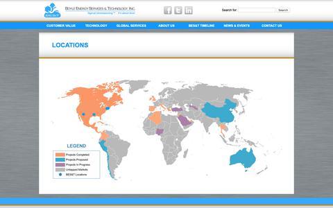 Screenshot of Locations Page boyleenergy.com - Boyle Eneregy Global Services | BES&T - captured Oct. 6, 2018