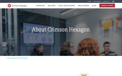 Screenshot of About Page crimsonhexagon.com - AI-Powered Consumer Insights Platform | Crimson Hexagon - captured Feb. 13, 2018