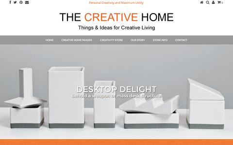 Screenshot of Blog module-r.com - THE CREATIVE HOME | Home - captured Sept. 30, 2014