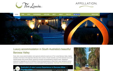 Screenshot of Home Page thelouise.com.au - The Louise & Appellation - Luxury Accommodation in the Barossa Valley - captured Nov. 19, 2018