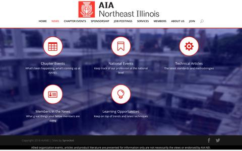 Screenshot of Press Page aianei.org - News | AIA Northeast Illinois - captured Nov. 12, 2018