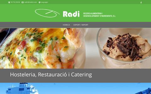 Screenshot of Home Page radisl.com - Portada - Radi SL - captured Jan. 10, 2016