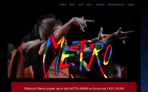 Screenshot of Home Page musical-metro.pl - Musical Metro Szczecin 2019 - captured Nov. 27, 2018