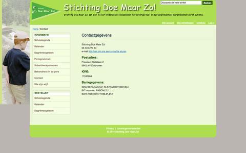 Screenshot of Contact Page doemaarzo.nl - Contact - captured Oct. 6, 2014