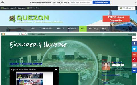 Screenshot of Blog explorer4quezon.com - Blog - Explorer 4 Quezon - Quezon Business Directory - captured Nov. 14, 2016
