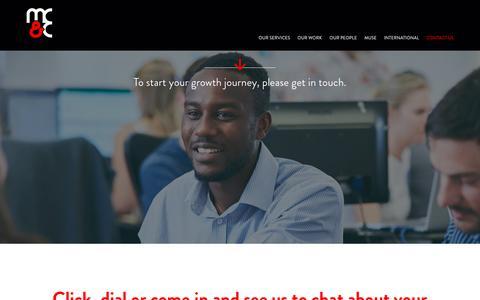 Screenshot of Contact Page mcandc.co.uk - Contact Us - MC&C - captured Sept. 23, 2018