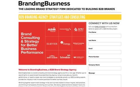 Screenshot of Landing Page brandingbusiness.com - Branding Business: Branding Strategy and Marketing Agency - captured Oct. 27, 2014