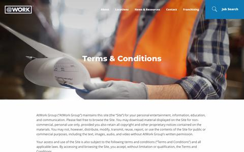 Screenshot of Terms Page atwork.com - AtWork Group Terms and Conditions | AtWork - captured June 29, 2018