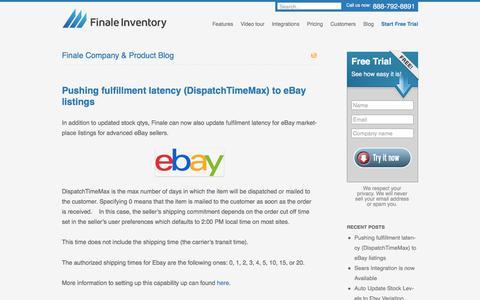 Screenshot of Blog finaleinventory.com - Inventory Management System Software, Retail Stock Tracking Software - captured June 6, 2017