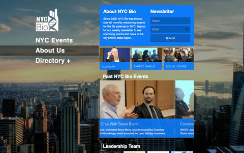 Screenshot of About Page nycbio.org - About Us | NYC Bio - captured Oct. 29, 2014