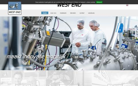Screenshot of Home Page westendbv.nl - De machinefabriek voor revisie, fabricage en engineering - West End Machinefabriek - captured Oct. 20, 2018