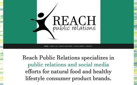 Screenshot of Home Page reach-pr.com - Reach Public Relations - captured Feb. 22, 2016
