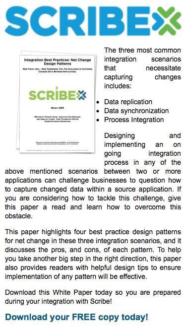 White Paper: Integration Best Practices: Net Change Design | Scribe Software