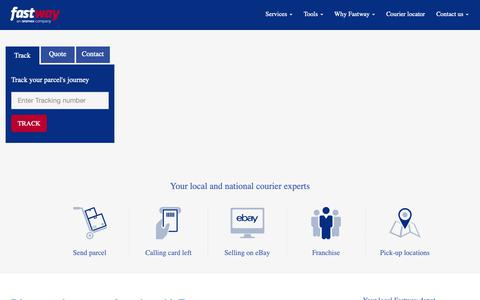 Screenshot of Home Page fifthgroup.com - Fastway Global Logistics Plc | Home - captured March 12, 2019