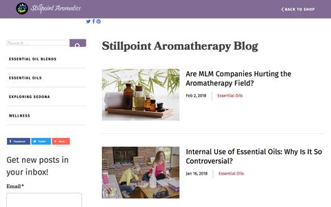 Screenshot of Blog stillpointaromatics.com - Stillpoint Aromatics Aromatherapy Blog | - captured Sept. 21, 2018