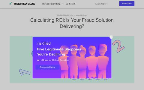 Screenshot of Team Page riskified.com - The ROI of fraud prevention: Calculating your cost of fraud | Riskified blog - captured Feb. 20, 2020