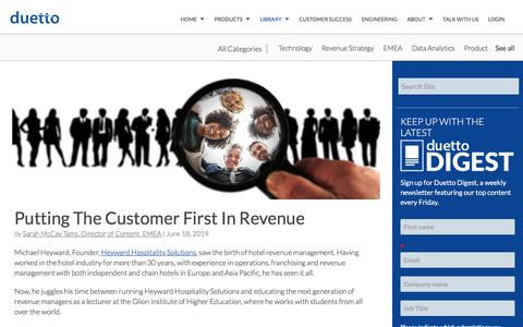 Screenshot of Case Studies Page duettocloud.com - Putting The Customer First In Revenue - captured Jan. 6, 2020