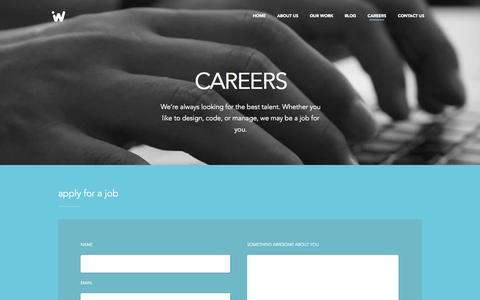 Screenshot of Jobs Page ideaware.co - Ideaware - Careers - captured Sept. 19, 2014