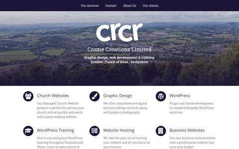 Screenshot of Home Page cromecreations.co.uk - Crome Creations Limited - captured Nov. 14, 2016