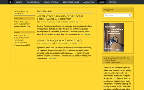 Screenshot of Blog wordpress.com - Blog – Livro Falante – audiolivros em portugês - captured Dec. 12, 2018