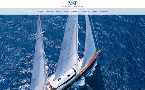 Screenshot of Home Page mbfhp.com - MBF Healthcare Partners | Miami-based private investment firm - captured Sept. 16, 2015