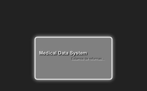 Screenshot of Home Page medicaldatasystem.com - Medical Data System - captured Nov. 6, 2018
