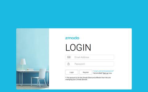 Screenshot of Login Page zmodo.com - Customer Login - captured Sept. 23, 2018