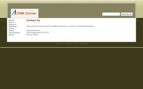 Screenshot of Contact Page aturmasys.com - Contact Us - www.aturmasys.com - captured Oct. 4, 2014