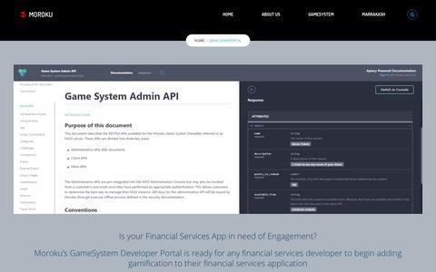 Screenshot of Developers Page moroku.com - Developer Portal – Moroku - captured Oct. 20, 2018