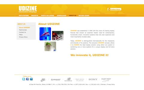 Screenshot of About Page udizine.com - About Us - About Udizine - captured Oct. 7, 2014