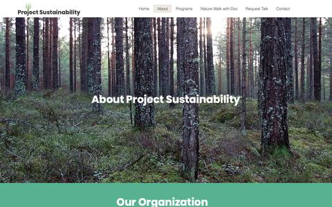 Screenshot of About Page projectsustainability.org - About | Project Sustainabiliy - captured Dec. 5, 2018