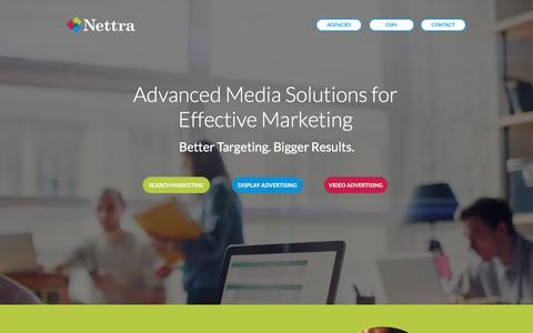Screenshot of Home Page nettramedia.com - Nettra: Advanced Media Solutions for Effective Marketing - captured May 26, 2017