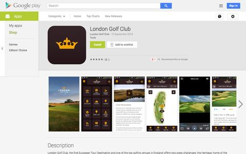 Screenshot of Android App Page google.com - London Golf Club - Android Apps on Google Play - captured Oct. 22, 2014