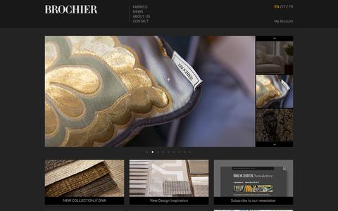 Screenshot of Home Page brochier.it - BROCHIER Home Page. The finest furnishing textiles. - captured Sept. 30, 2014