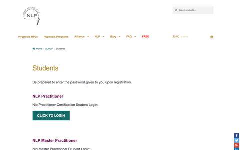 Screenshot of Login Page stevegjones.com - Students | Hypnosis mp3 downloads, programs, books and classes by Dr. Steve G. Jones, Ed.D., Clinical Hypnotherapist - captured Sept. 24, 2018
