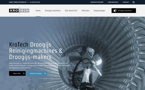 Screenshot of Home Page krotech.nl - KroTech droogijs, droog ijs reiniging en productie machines - captured Oct. 13, 2017