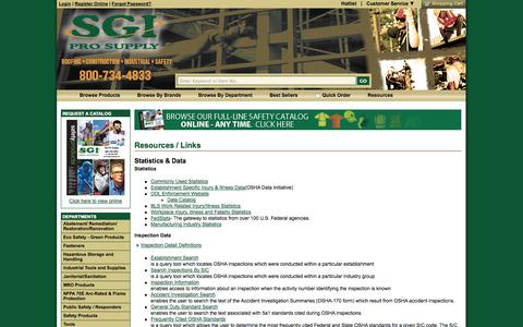 Screenshot of Press Page sgiprosupply.com - Hard Hats, Head Protection, Safety Vests, Construction Safety Products, SGI Pro Supply, Colorado - captured Oct. 3, 2014