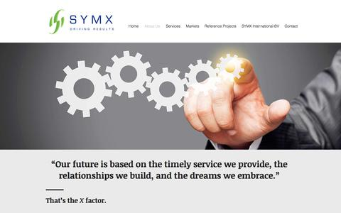 Screenshot of About Page symxcorp.com - SYMX Healthcare - International Project Management and Procurement | About Us - captured Oct. 2, 2017