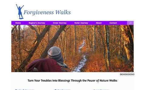 Screenshot of Home Page forgivenesswalks.com - How to Forgive: Appalachian Trail Pilgrimage Walk    Forgivenesswalks.com - captured Oct. 10, 2018
