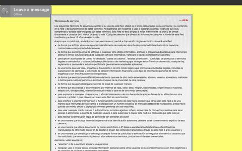 Screenshot of Terms Page acro-gym.com - Términos de servicio - ACRO-GYM - captured July 28, 2018