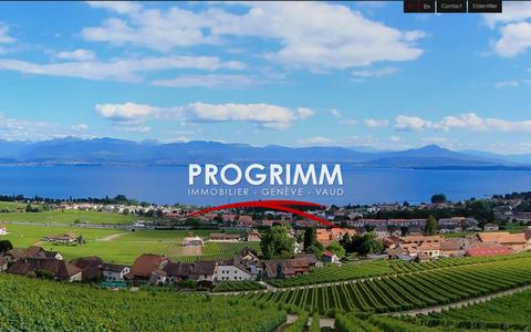 Screenshot of Home Page progrimm.com - Accueil | Progrimm Immobilier | Real Estate Investment | Genève - VaudProgrimm - captured Jan. 23, 2016
