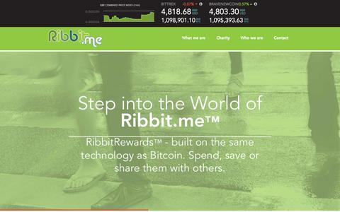 Screenshot of Home Page ribbit.me - Ribbit.me - captured Sept. 3, 2015