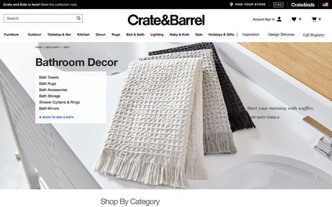 Bathroom Decor | Crate and Barrel