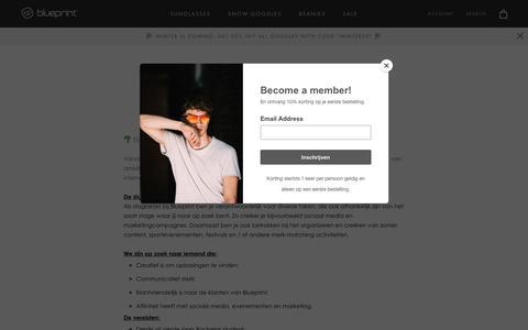 Screenshot of Jobs Page blueprinteyewear.com - Jobs – Blueprint Eyewear - captured Nov. 6, 2018