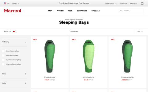 Sleeping Bags / Equipment / Specials   Marmot.com